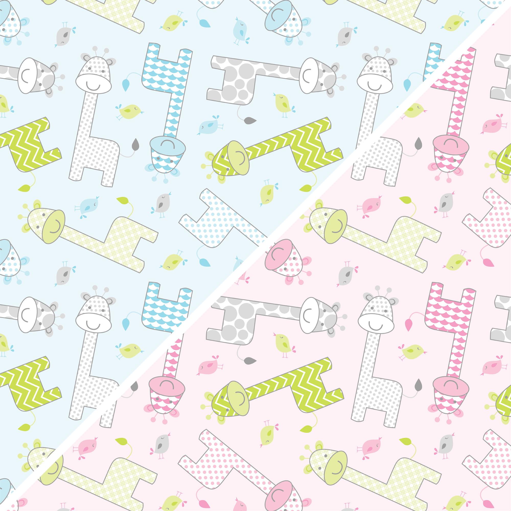 "David Textiles Fleece 36"" x 60"" Anti-Pill Baby Giraffe Fabric, 1 Each"