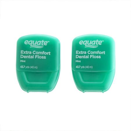 Best Equate Extra Comfort Mint Dental Floss, 2 Pk deal