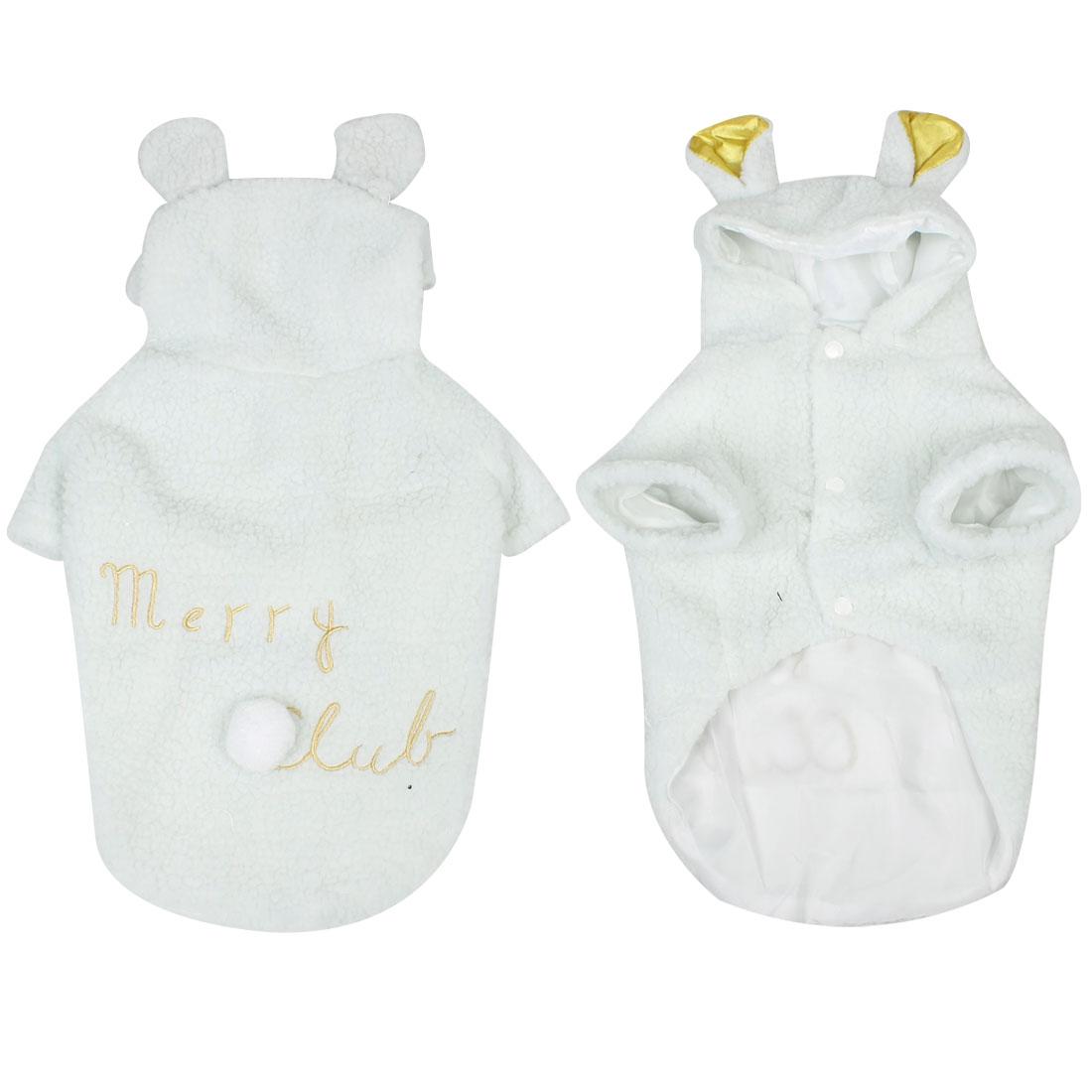 Winter Sheep Design Pet Dog Jacket Clothes Costume Apparel White L