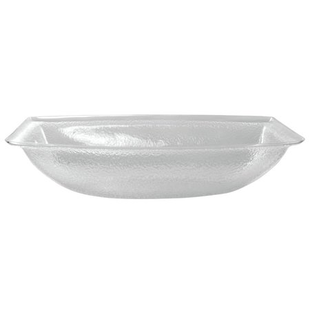 "Carlisle Plastic Bowl 15 qt Pebbled Rectangular Clear - 21 7/8""L x 15 1/4""W x 4 3/4""H (OSB17807)"