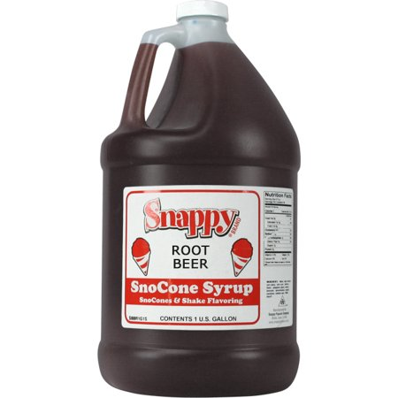 Root Beer Snappy Snow Cone Syrup (1 Gallon)