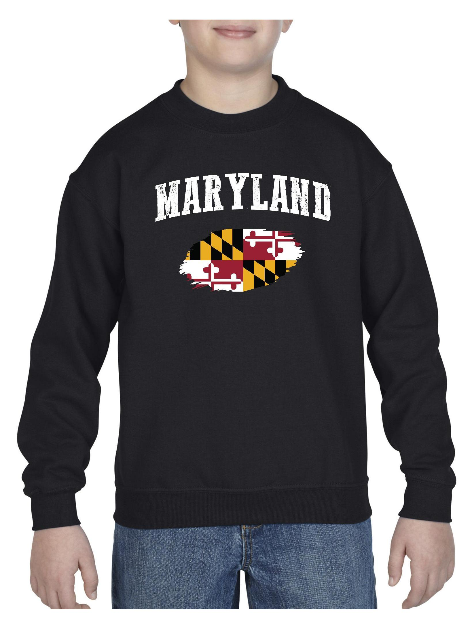 Maryland State Flag Unisex Youth Crewneck Sweatshirt
