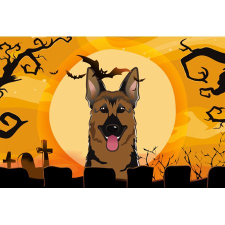 Halloween German Shepherd Fabric Placemat BB1769PLMT (Halloween Placemats Target)