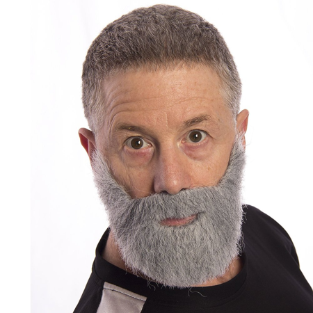 Most Interesting Man In The World Beard Dos Equis Commercial Adult Costume Grey - Male Halloween Makeup With Beard