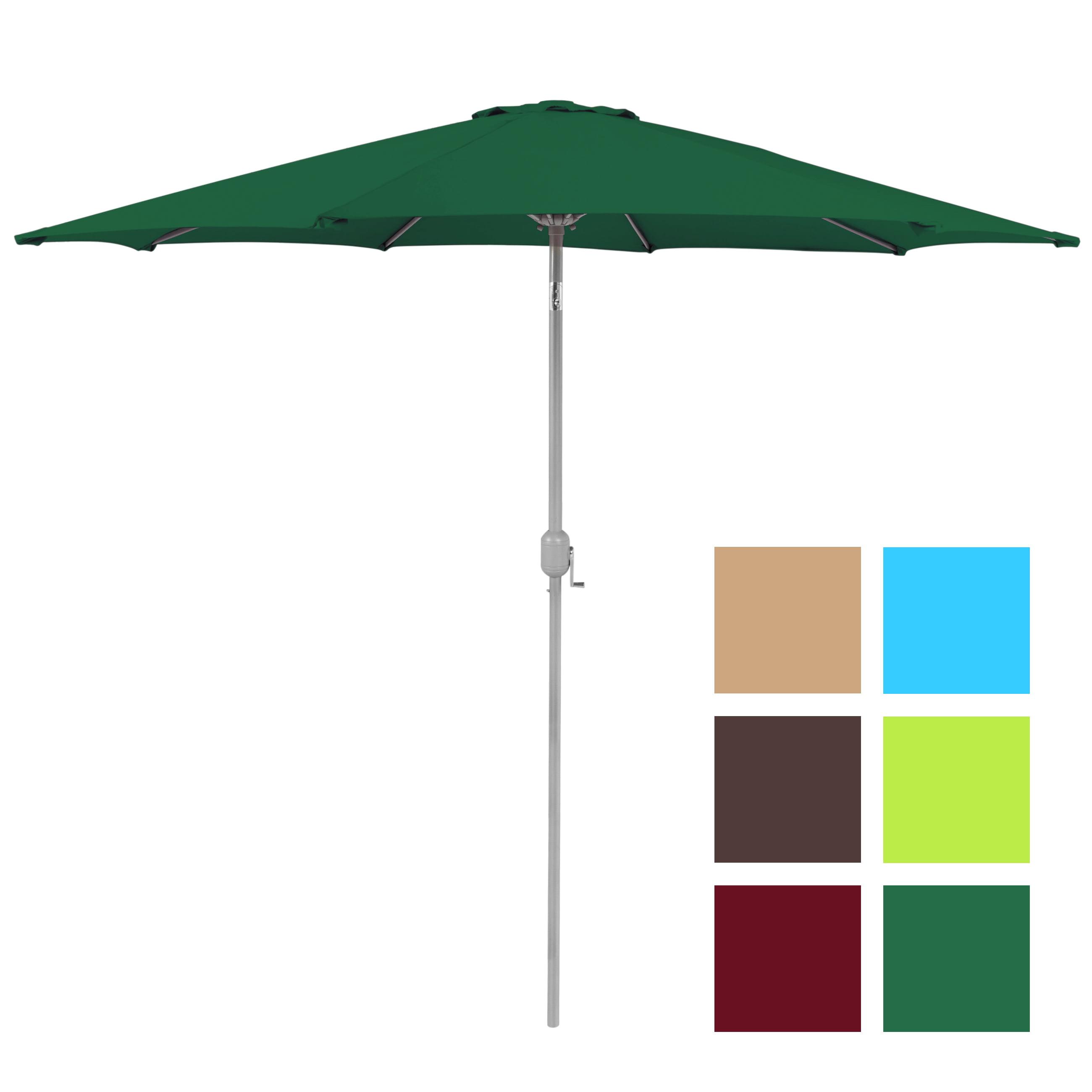 BCP 9' Aluminum Patio Market Umbrella Tilt W  Crank Outdoor Multiple Colors by SKY