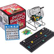 Regal Games Deluxe Bingo Cage Game Set - 8-Inch Metal Cage with Plastic Masterboard, 75 Multi-color Bingo Balls, 18 Bingo Cards and Bingo Chips