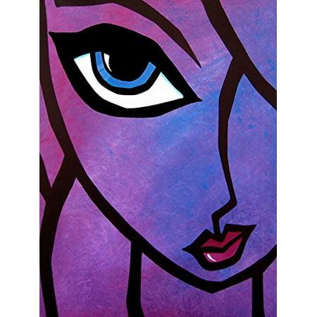 Smooth by FidoStudio 16x12 Art Print Poster   Pink Blue Purple Female Lady Sexy Beauty Salon Art Woman Of Beauty Nail Hair Fashion Art POD Beauty Salon Art