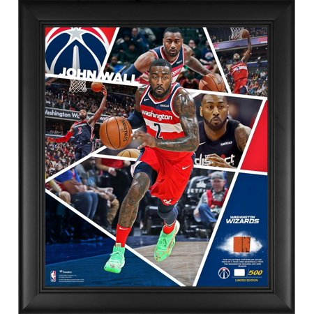 """John Wall Washington Wizards Framed 15"""" x 17"""" Impact Player Collage with a Piece of Team-Used Basketball - Limited Edition of 500"""