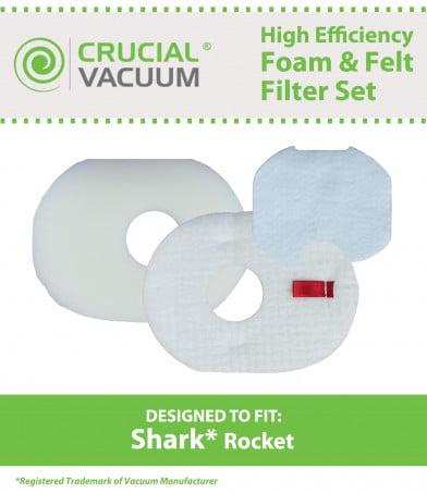 Shark Rocket Foam/Felt Filters Fit HV300, Part # XFFV300 & 1080FTV320