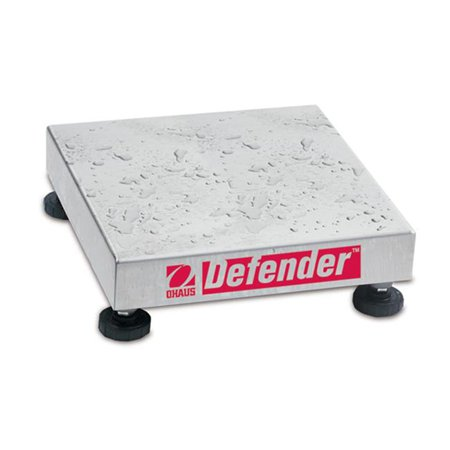Ohaus 80251927 Defender Washdown Square Bench Scale Base, 100 Lbs. X 0.01 Lbs.