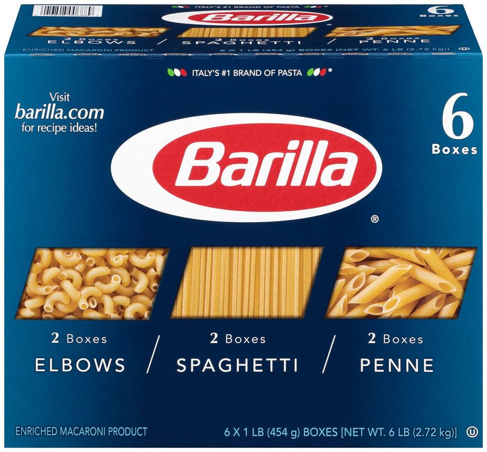 Barilla Pasta Elbow/ Spaghetti/ Penne, 6 lb - $1.50/ lb