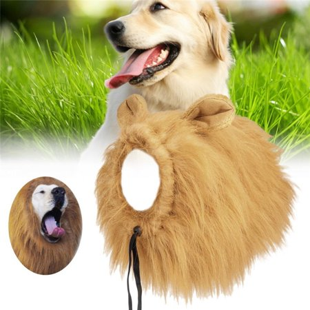 Doc Holiday Costumes (Pet Dog Wig, Funny Soft Dog Lion Mane, Complementary Lion Mane for Dog Costumes, Fashionable Synthetic Fiber Pet Dog Puppy Wig For Festival Party Holidays)