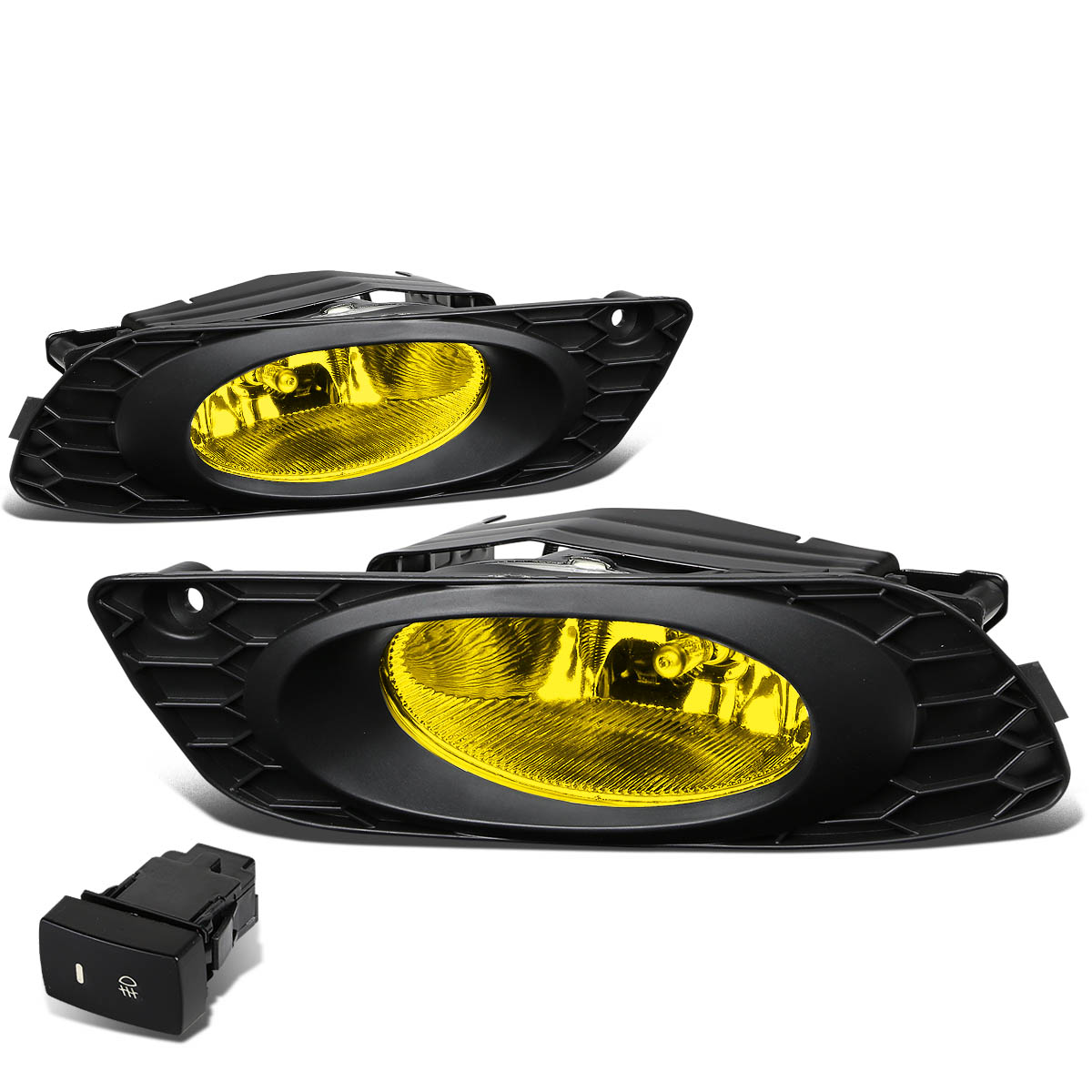 For 12 Honda Civic FB 4dr Pair Of Bumper Driving Fog Lights + Wiring Kit +