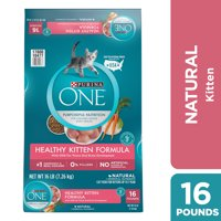 Purina One Healthy Kitten Natural Dry Cat Food, 16 lb