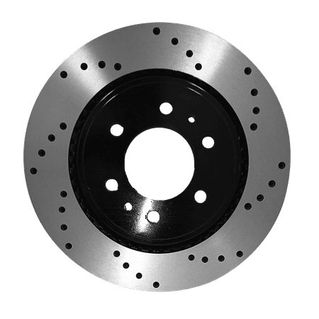 [Front Cross Drilled Brake Rotors Ceramic Pads] Fit 10-15 Ford F-150 6 Lug - image 1 of 2