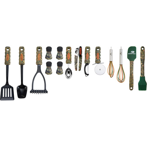 Mossy Oak Break Up Infinity 15 Piece Kitchen Tool and Gadget Set