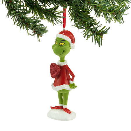 dr seuss the grinch with big heart christmas ornament 4032921 dept 56 decoration - Dr Seuss Christmas Decorations