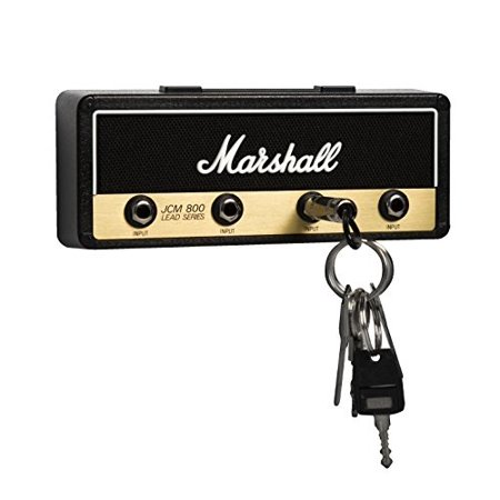 marshall jcm800 standard jack rack v2 0- wall mounted guitar amp key holder  includes 4 guitar plug keychains and wall mounting kit