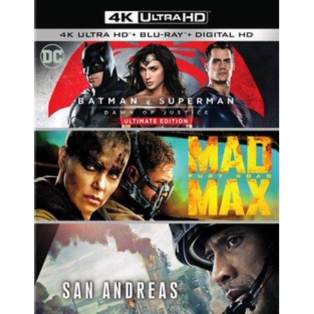 Batman V Superman: Dawn of Justice / Mad Max: Fury Road / San Andreas (4K Ultra HD) - Dawn Of Justice Batman