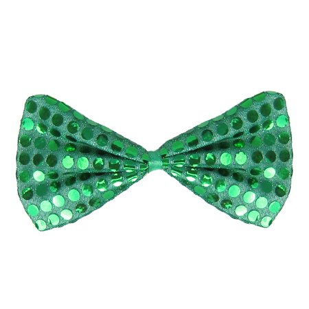 SeasonsTrading Green Sequin Bow Tie Costume Party Accessory - 30s Costumes