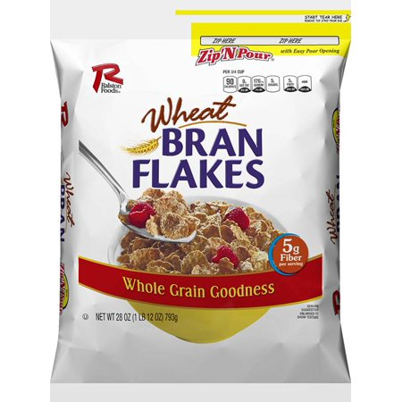 Cereal Case (Ralston Foods Wheat Bran Flakes Cereal 28oz (PACK OF 4))