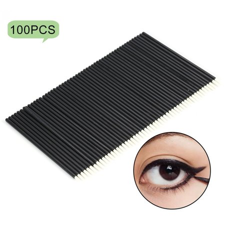 Tbest 50PCS/Set Disposable Eyeliner Brush Eyeshadow Applicator Eyes Makeup Cosmetic Tool, Cosmetic Brush, Eyeliner Applicator