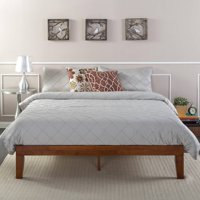 "Zinus Wen 12"" Solid Wood Platform Bed, Cherry Finish, Multiple Sizes"