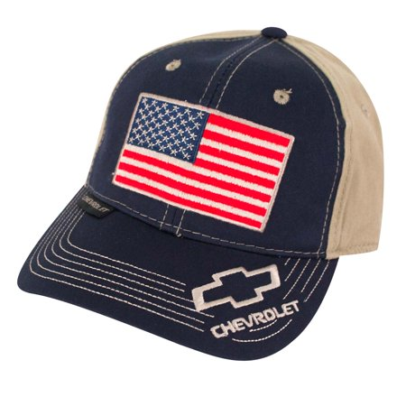 Outdoor Cap Unisex-Adult American Flag Truck Cap, Navy/Khaki](Mack Truck Hats)