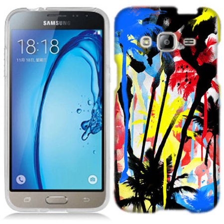 Mundaze Spray Paint Palm Trees Phone Case Cover for Samsung Galaxy Core Prime Prevail (Qwik Spray Case)