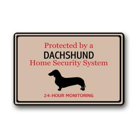 WinHome Security Dachshund Doormat Floor Mats Rugs Outdoors/Indoor Doormat Size 30x18 inches ()
