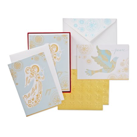 (40 Cards with Envelopes) Hallmark Christmas Boxed Card Assortment, Dove and Angel - Tinkerbell Christmas Cards