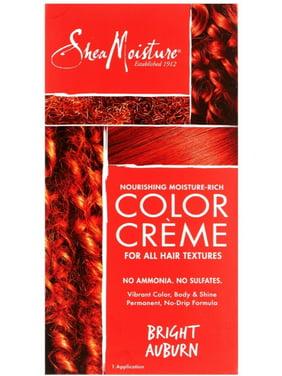 2 Pack - Shea Moisture Color Crème for All Hair Textures, Bright Aubur 1 ea