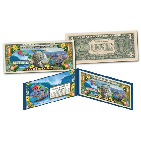 HAWAII 50th State Color $1 Bill OFFICIAL Legal Tender U.S. One-Dollar Banknote
