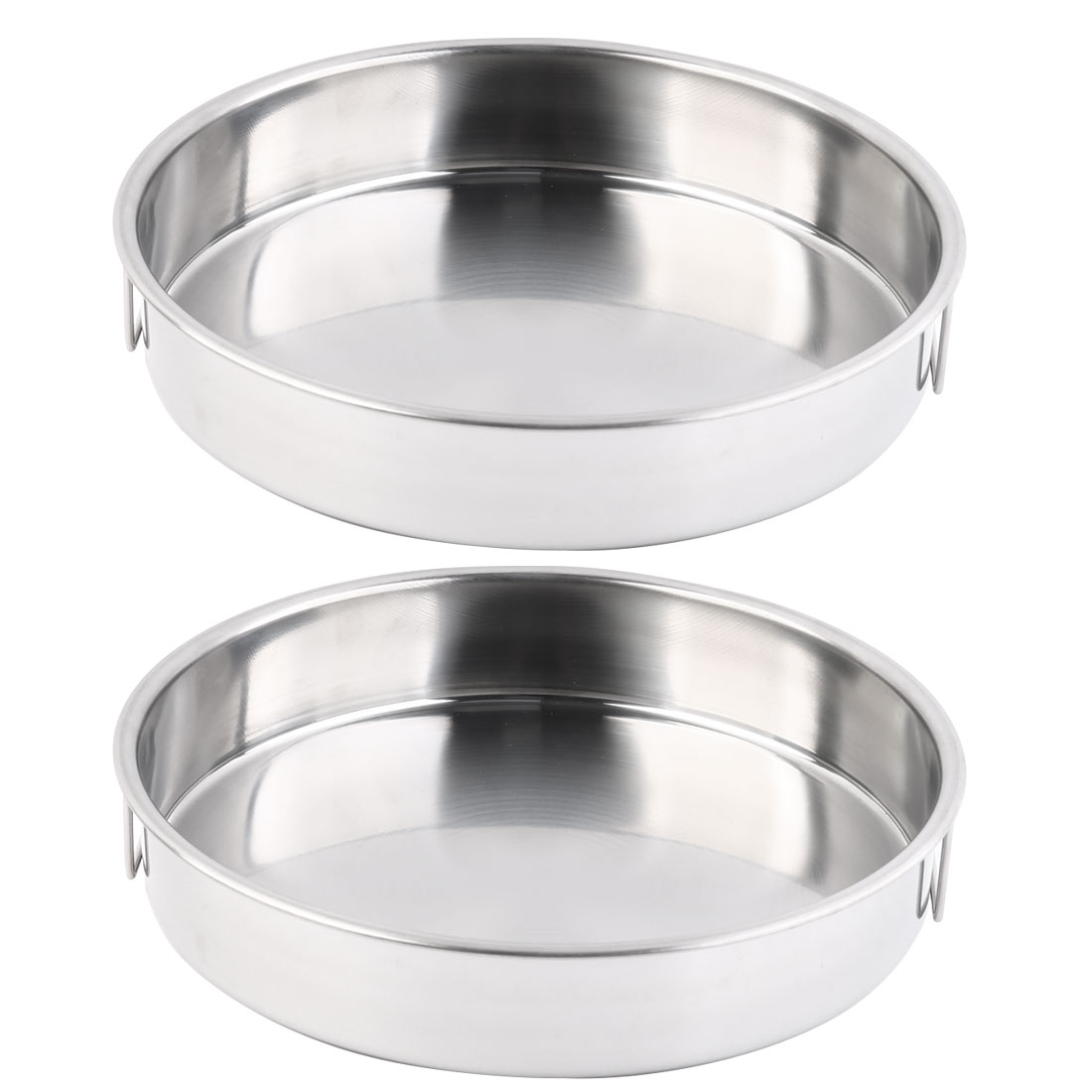 Kitchen Stainless Steel Dinner Soup Rice Vegetable Food Tableware Bowl Dish 2pcs
