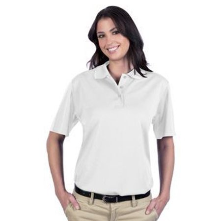 OTTO 5.0 oz. Cool Comfort Polyester Cool Mesh Ladies' Performance Sport Shirt - White Cool Mesh Polyester 2 Button