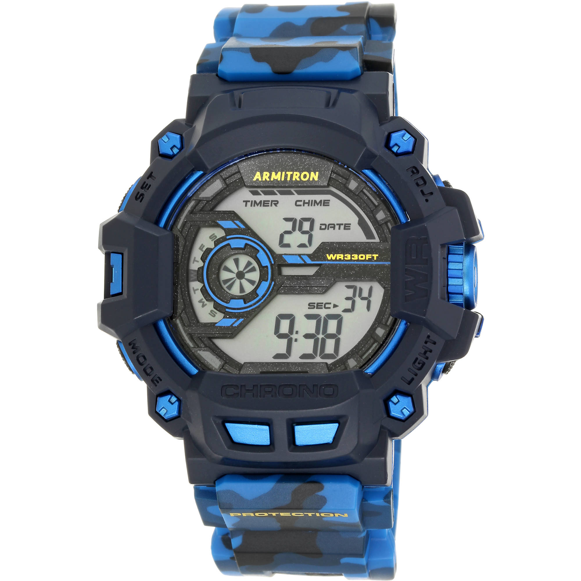 Men's Sport Countertop Camouflage Watch, Resin Band
