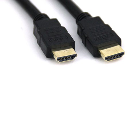 VCOM HDMI 1.4V Type A to A High Speed with Ethernet Black Cable, Gold Plated, 6'