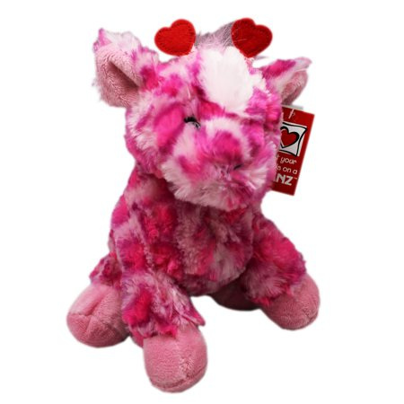 Cherie the Pink/Magenta Heart Themed Giraffe Plush Toy - By Ganz (9in)