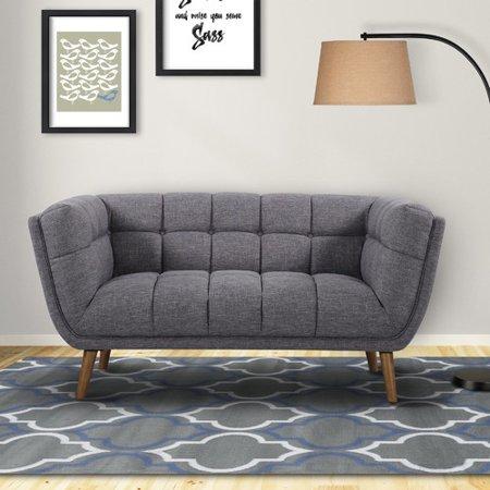 Magnificent Corrigan Studio Alvin Mid Century Modern Loveseat Brickseek Creativecarmelina Interior Chair Design Creativecarmelinacom