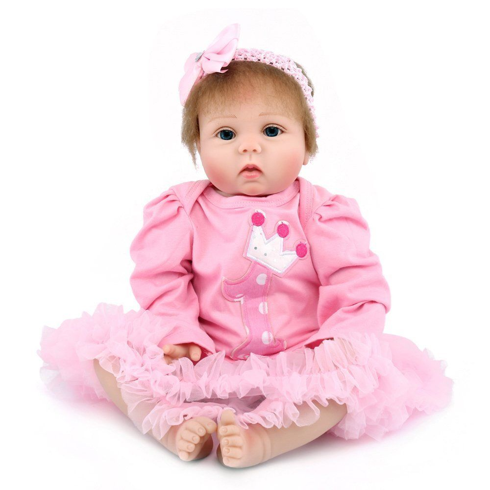 22inch Silicone Vinyl Kids Gift Baby Dolls that Look Real Life Handmade Reborn Dolls Toy For Kids Brithday Gifts