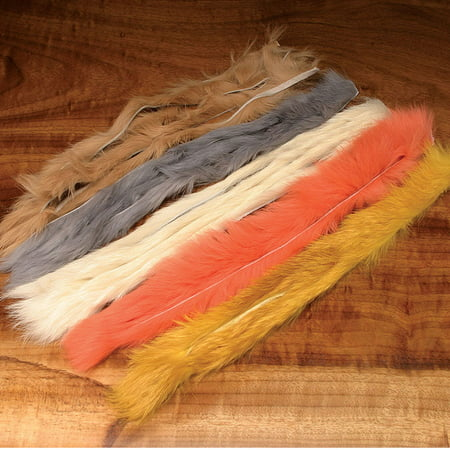 Hareline Natural and Dyed Rabbit Strips Fly Tying Materials Assorted