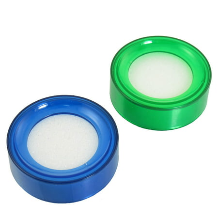 Unique Bargains 2 x Blue Green Round Sponge Fingertip Moistener for Money Casher](Finger Monkey Prices)