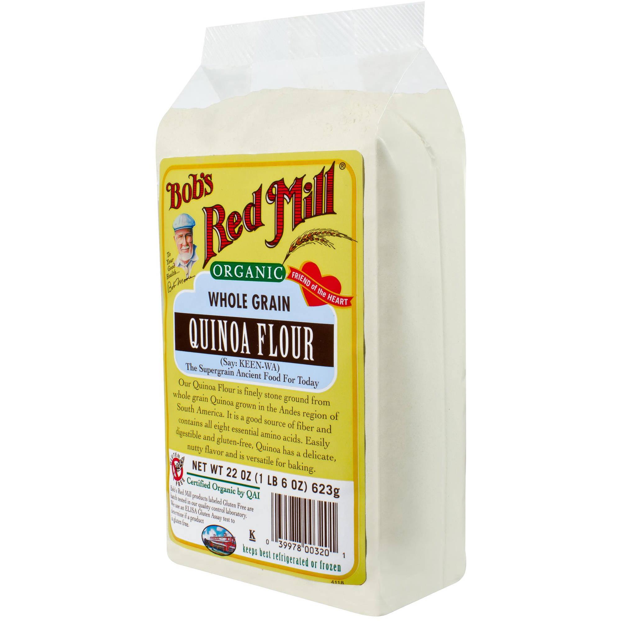 Bob's Red Mill Organic Whole Grain Quinoa Flour, 22 oz, (Pack of 4)