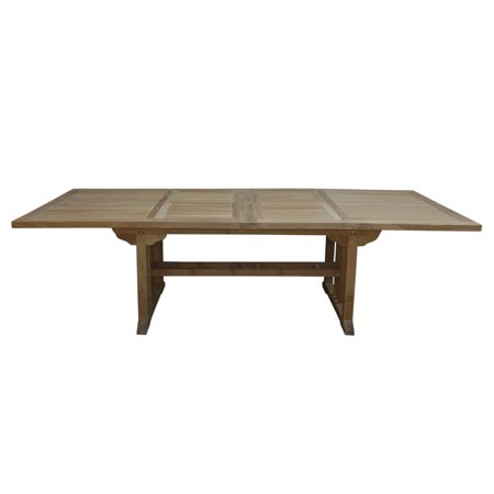 Anderson Teak Sahara Double Extension Outdoor Dining Table Walmartcom - Outdoor teak extension dining table