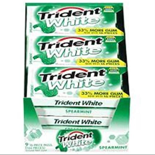 Trident  White Gum Spearmint 9 pack (16 ct per pack) (Pack of 6)