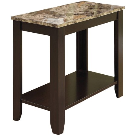 monarch accent table cappuccino marble top. Black Bedroom Furniture Sets. Home Design Ideas