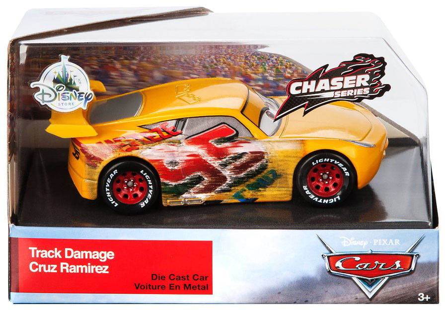 Disney Cars Cars 3 Track Damage Cruz Ramirez Diecast Car Walmart