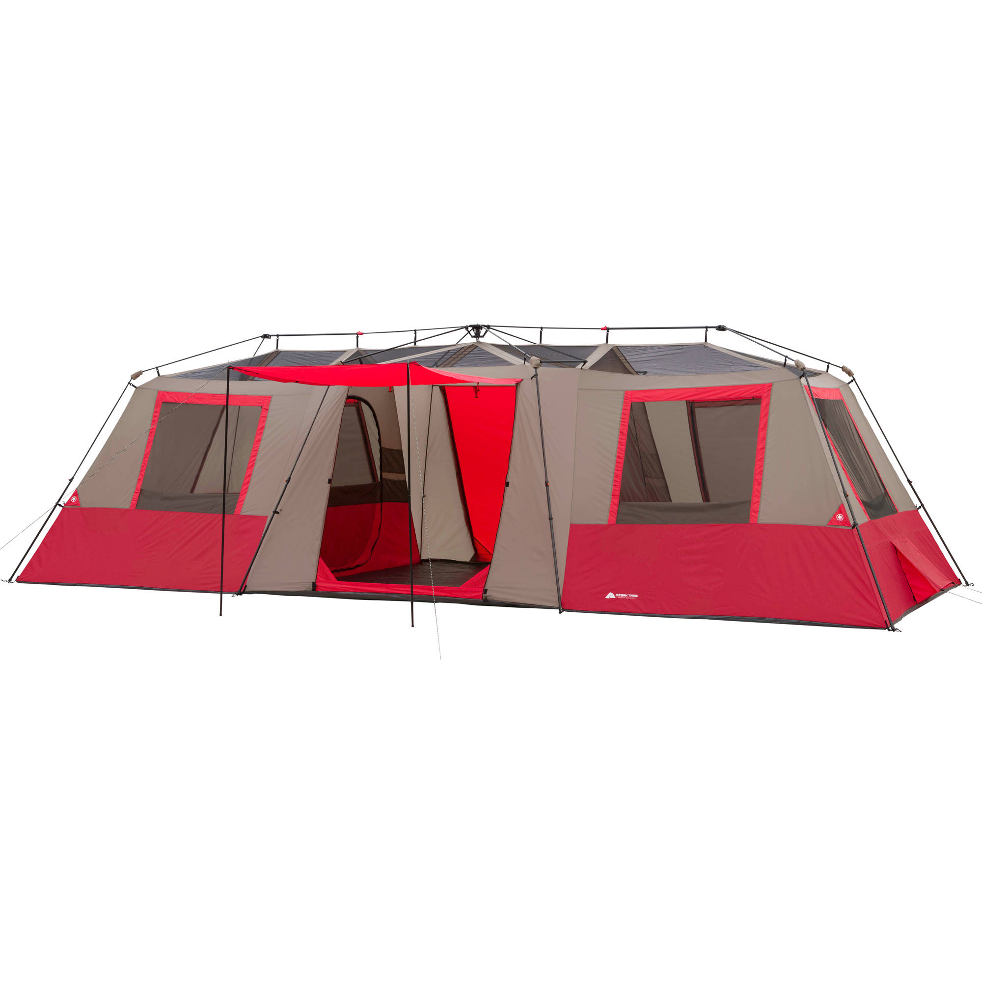 Ozark Trail 15 Person 3 Room Split Plan Instant Cabin Tent - Walmart.com  sc 1 st  Walmart.com & Ozark Trail 15 Person 3 Room Split Plan Instant Cabin Tent ...