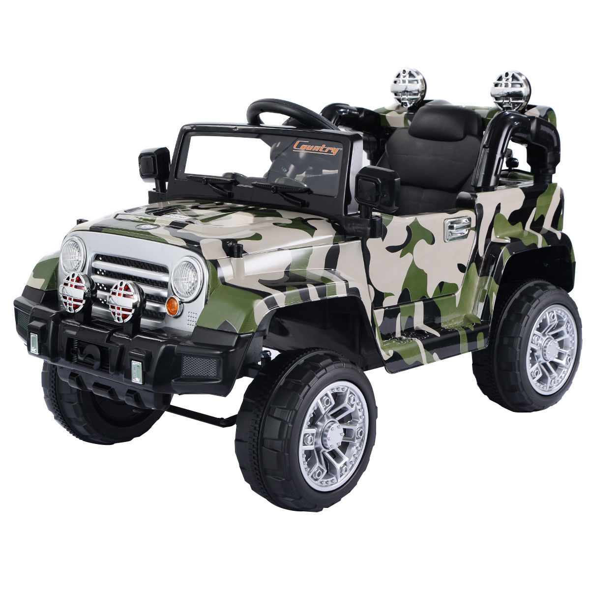 Costway 12V MP3 Kids Ride On Truck Jeep Car RC Remote Control w  LED Lights Music by Costway