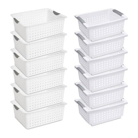 Sterilite Large Ultra Storage Organizer Basket (6 Pack) + Stacking Bins (6 Pack) - image 11 de 11